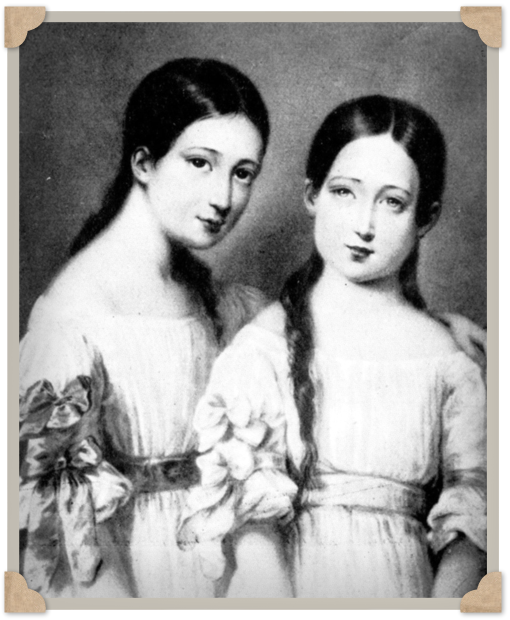 Maria Eugenia of Montijo and her sister Francisca