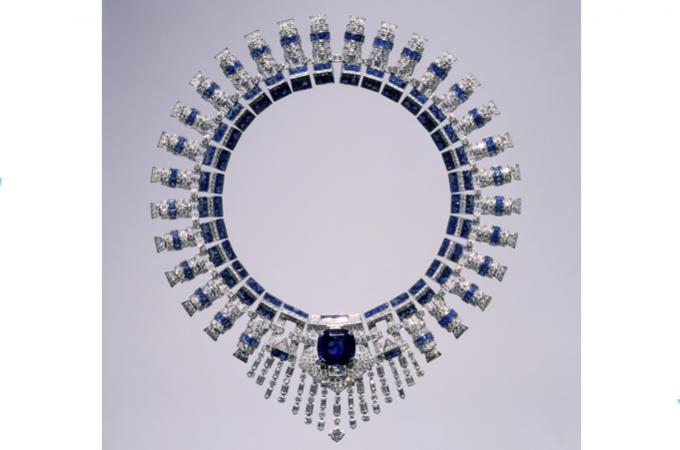 Cartier - Marjorie Merriweathers jewelry - sapphires necklace - by Vintage By Lopez-Linares - Copy