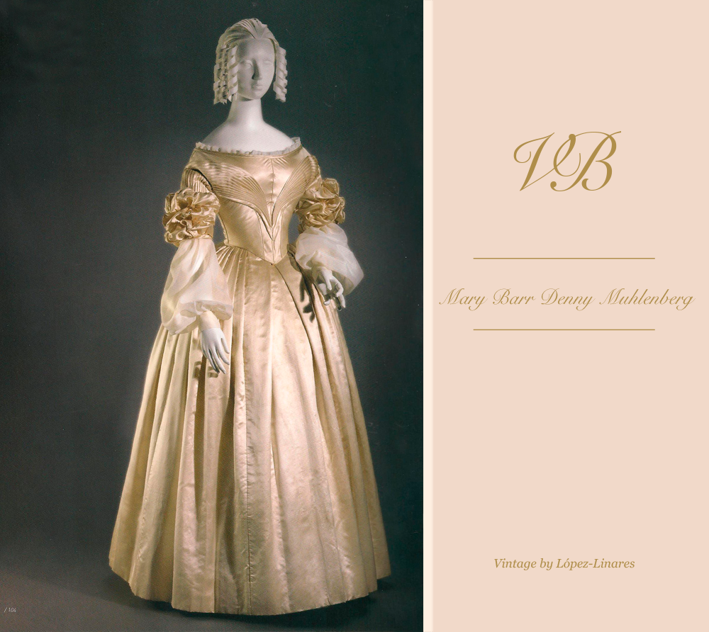 Mary Barr Denny Muhlenber's original wedding dress before any retouch  Vintage By Lopez  Linares