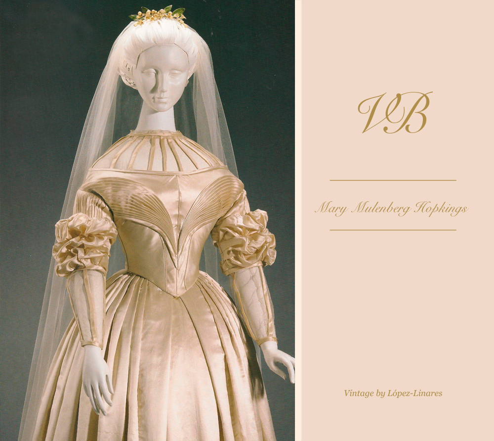 Mary Muhlenberg's bridal gown after the retouch  Vintage By Lopez Linares